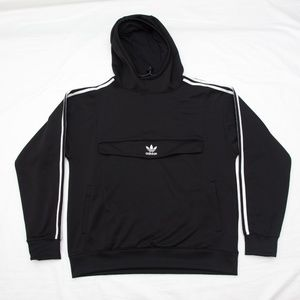 ADIDAS originals Hoodie front pocket zip snap